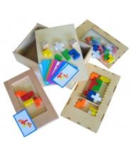 Tetris drewniana gra