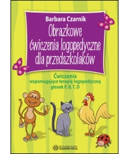 Obrazkowe ćwiczenia logopedyczne dla przedszkolaków – Ćwiczenia wspomagające terapię logopedyczną głosek P, B, T, D.