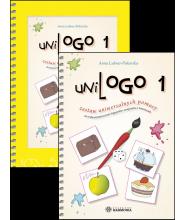 UniLOGO 1 (komplet przewodnik + teczka) – Zestaw uniwersalnych pomocy do wykorzystania przez logopedów, terapeutów i nauczycieli