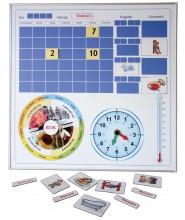Kalendarz magnetyczny w aluminiowej ramie