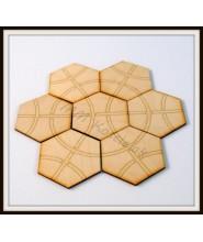 Sześciokątna układanka w drewnianym pudełku